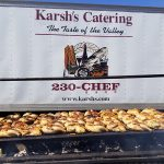 Karsh Catering banner with chicken