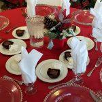 Christmas dinner setup